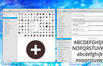 elementary OS Fonts and Icons mockup, version 2