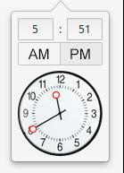 elementary OS TimePicker widget