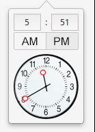elementary OS TimePicker widget by 13iangel
