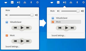 Sound panel variant for elementary OS