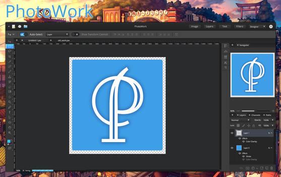 PhotoWork app for elementary OS mockup version 2