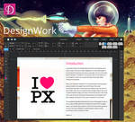 elementary OS DesignWork app mockup version 2