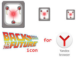 Back to the future icon for Yandex browser