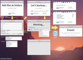 SecondChance - backup app mockup version 4 by 13iangel