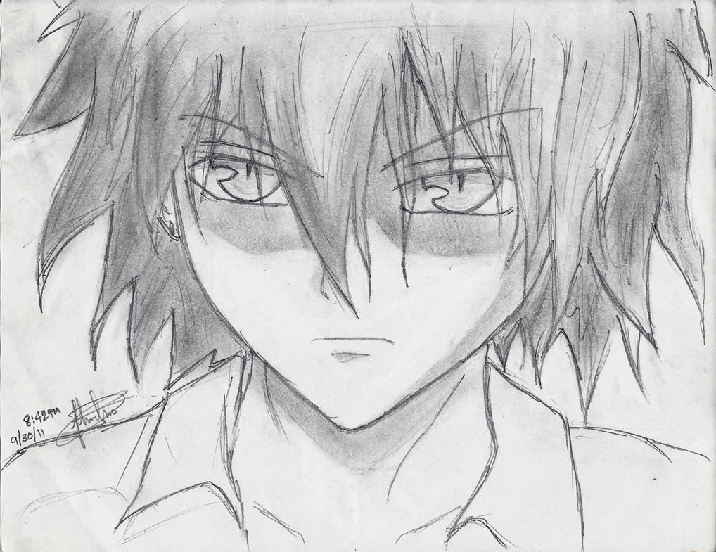 Anime guy by darkbladez15 on deviantart for Sketch it online