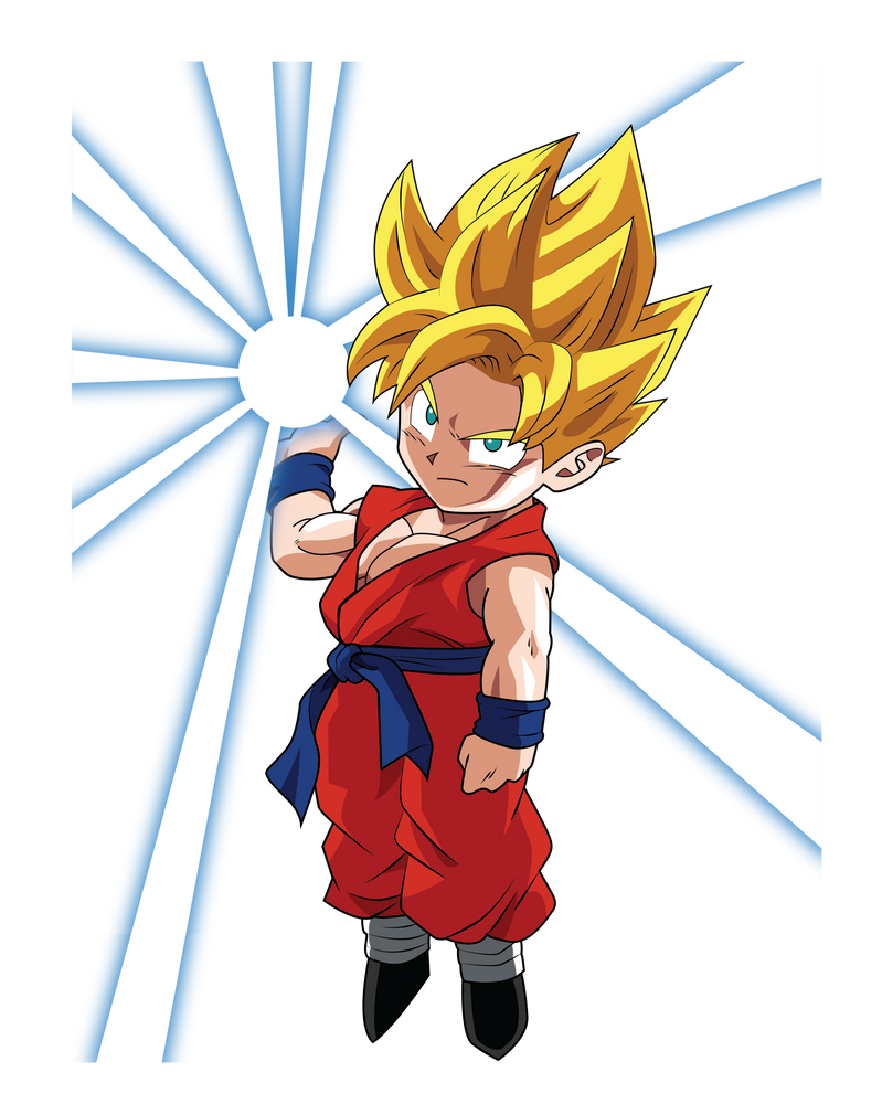 Super Saiyan Kid Goku Vector by GTX225 on DeviantArt