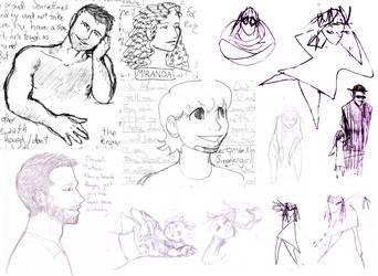 Loony-Brain Sketchdump by BaaingTree