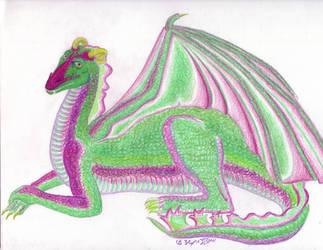 Commish: Mardi Gras Dragon by BaaingTree