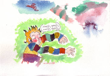 Sneak in Watercolor