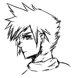Cloud Strife Sketch by Echobreeze43