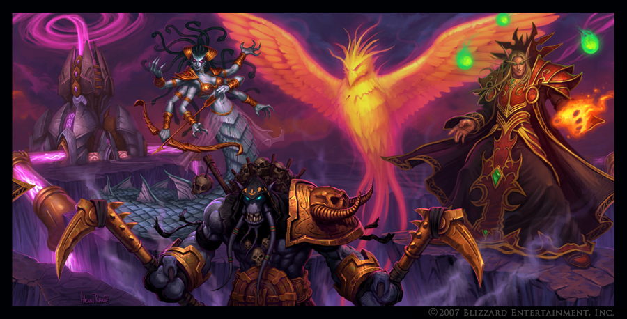 Kael'Thas and Crew by Arsenal21
