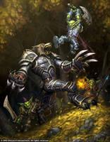Worgen vs. Goblins by GlennRaneArt