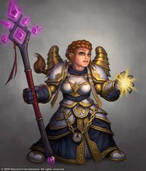 Dwarf Female Priest by GlennRaneArt