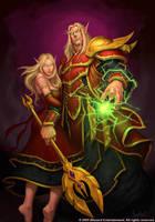 Blood Elf Couple by GlennRaneArt