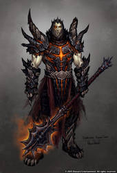 Deathwing: Human form. by GlennRaneArt
