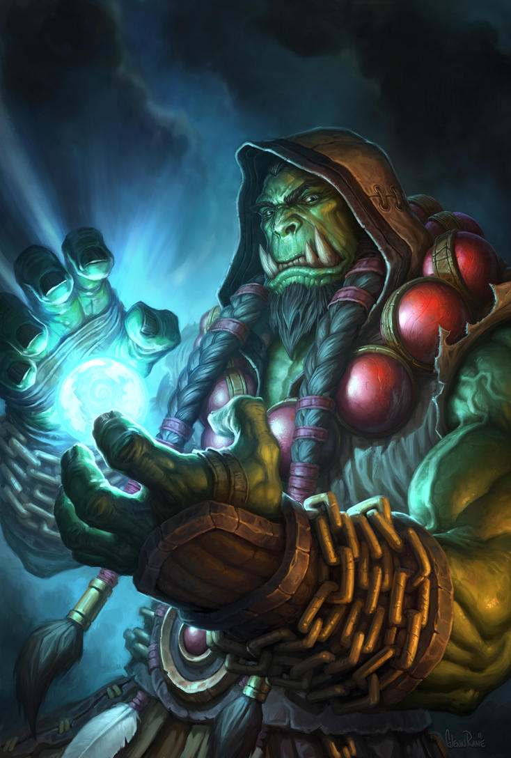 Thrall Hearthstone Hero Portrait by Arsenal21