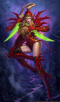 Valeera Sanguinar Hearthstone Hero Portrait by GlennRaneArt