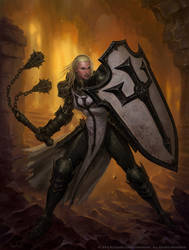 Female Crusader by Glenn Rane