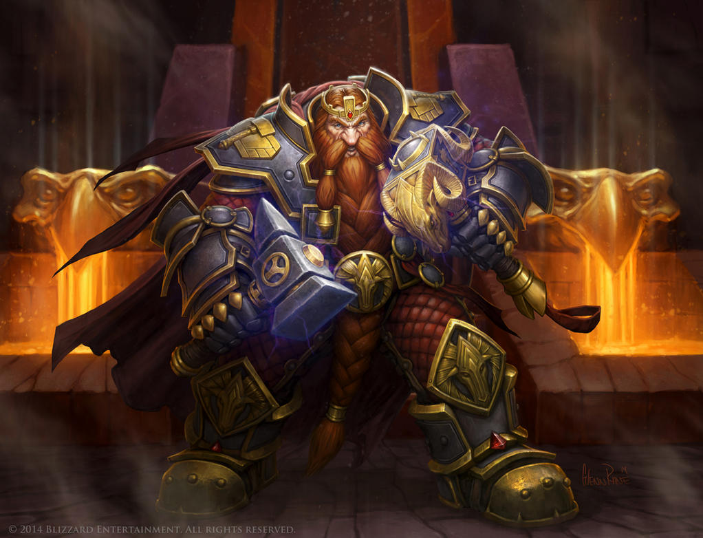 Hearthstone King Magni by Glenn Rane by Arsenal21