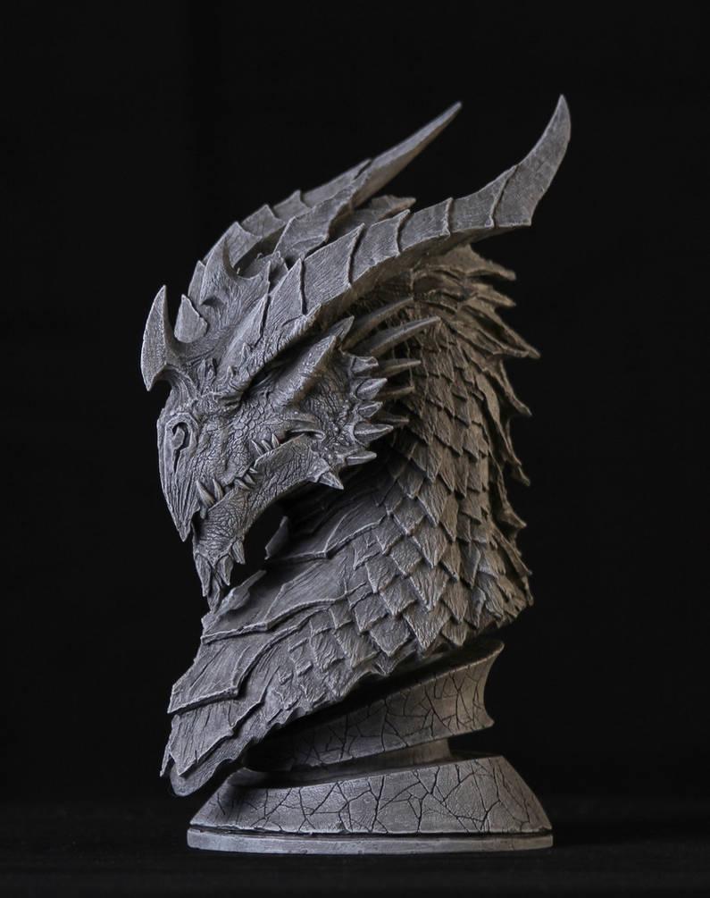 Dragon Sculpt by GlennRaneArt