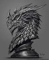 Inkarnate Dragon Sculpt Design by GlennRaneArt