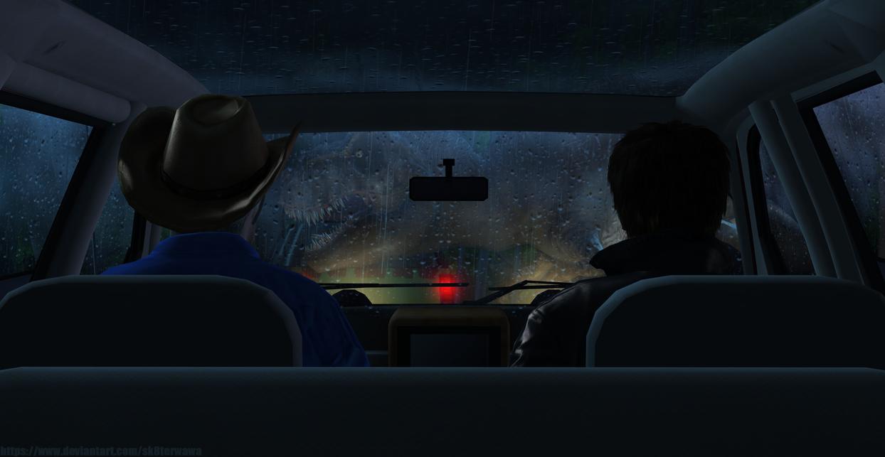 Jurassic Park - TRex by sk8terwawa