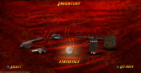 Tomb Raider II remake - inventory menu