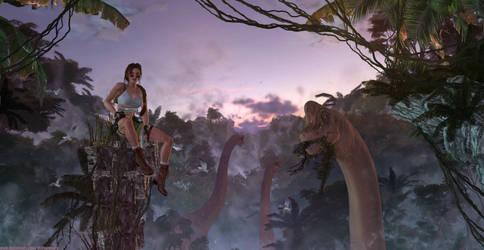 Tomb Raider 3 - Crash site sunset