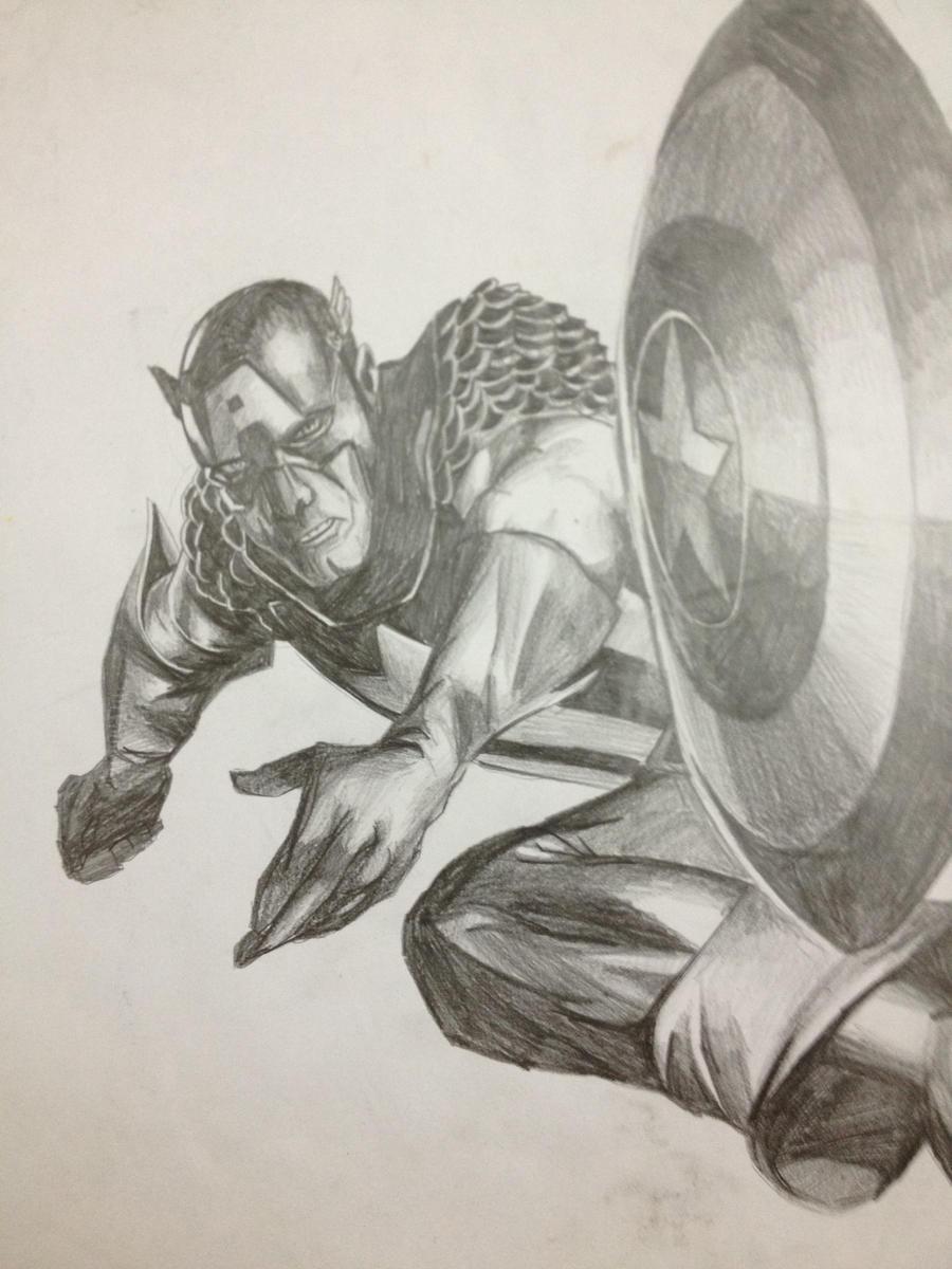 Captain America Shield Drawing Captain america : shield