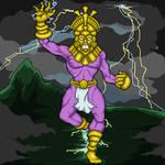 Illapa, god of thunder and lightning