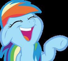 Rainbow Dash laughs by OrbitalVelocity