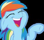 Rainbow Dash laughs
