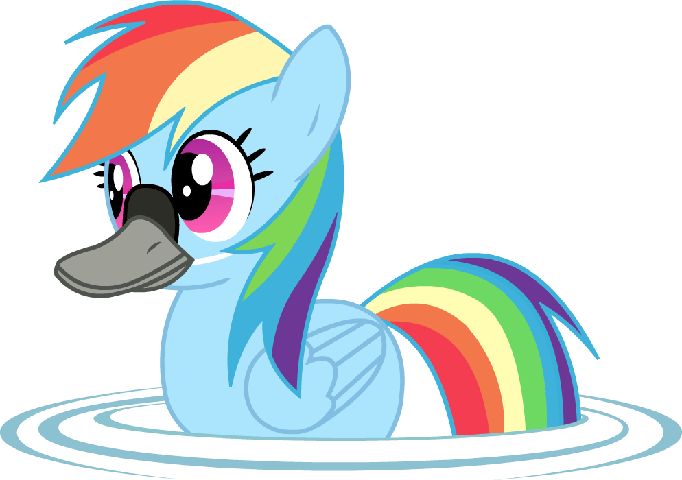 Rainbow Duck by Twitchy-Tremor
