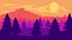 Pixel art landscape