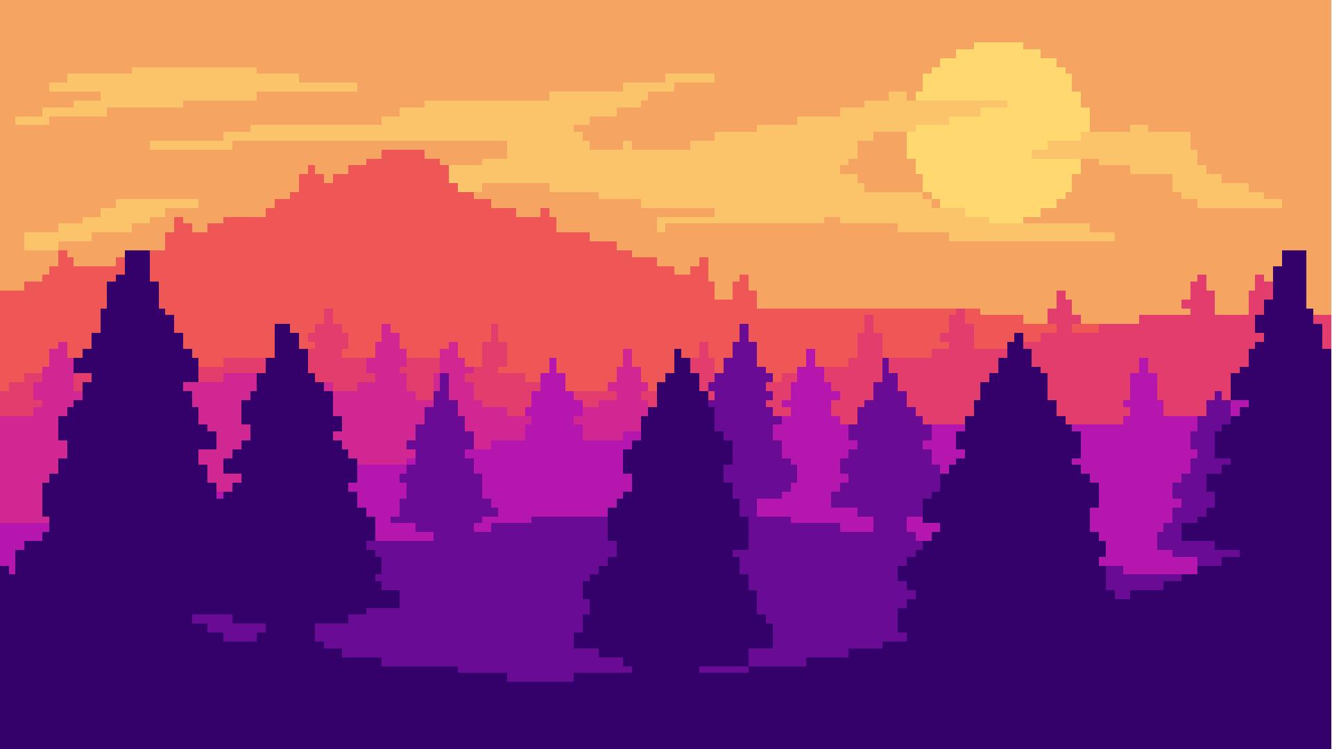 Pixel art landscape by Mockingjay1701