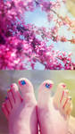 Springtime Toes by silverdoves