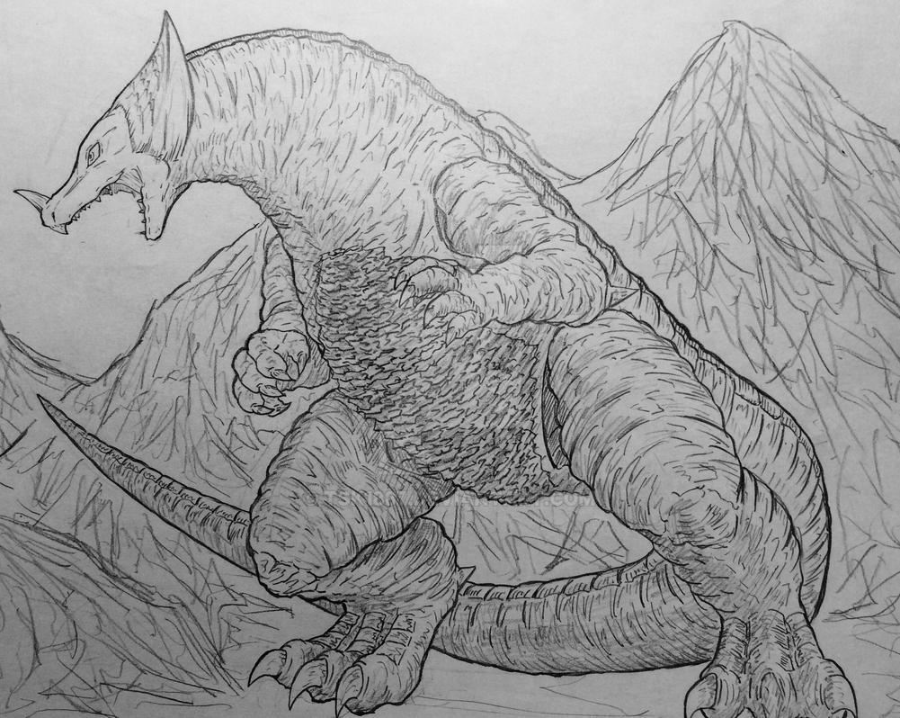Gomora, the ancient kaiju by TSK1887