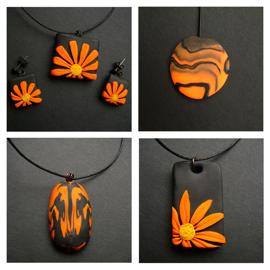 Orange FIMO stuff by tulien