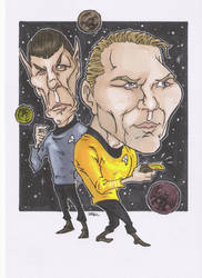 KIRK AND SPOCK CARICATURE by leagueof1