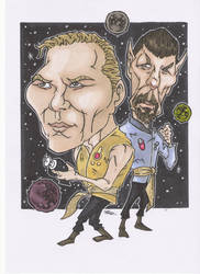 KIRK AND SPOCK MIRROR UNIVERSE by leagueof1