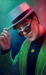 Mysterious person portrait