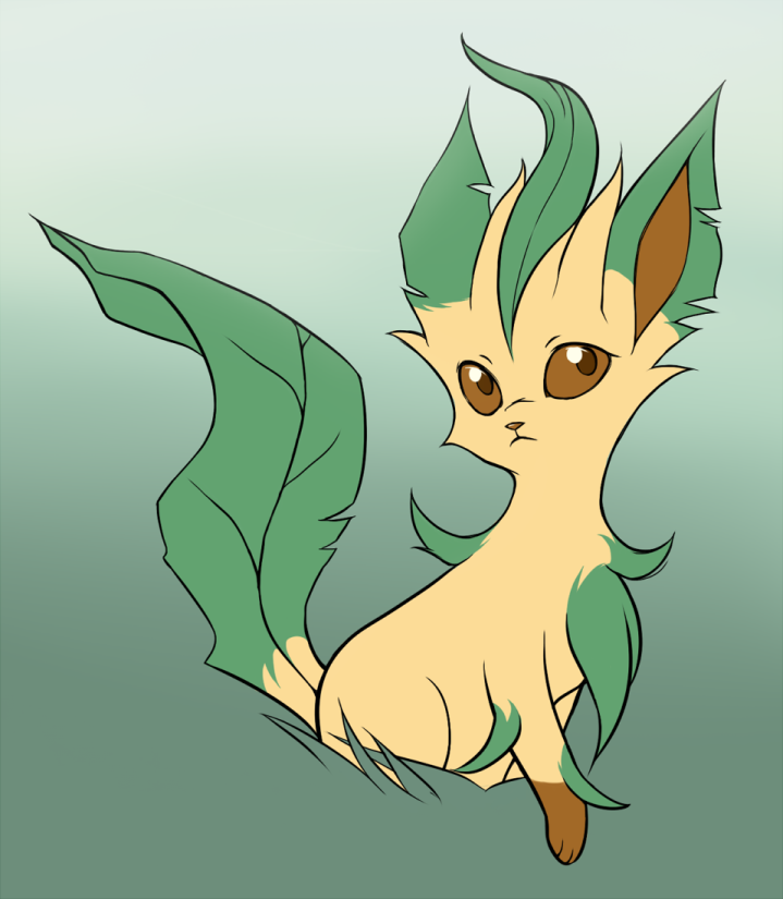 Leafeon Colored by Saria29