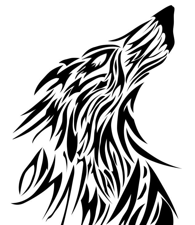 Tribal Wolf Wallpaper: Tribal Wolf Redone By WingedNinja28 On DeviantArt