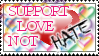 Support Love Not Hate Stamp by neeneer