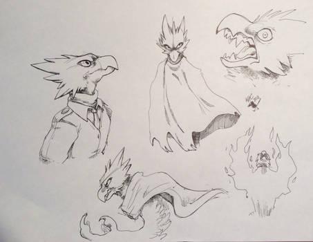 Tokoyami Fumikage Sketch Sheet