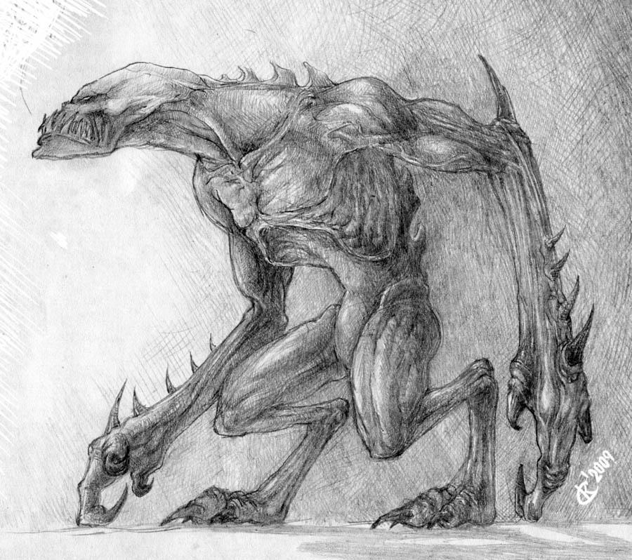Красивые рисунки карандашом монстров