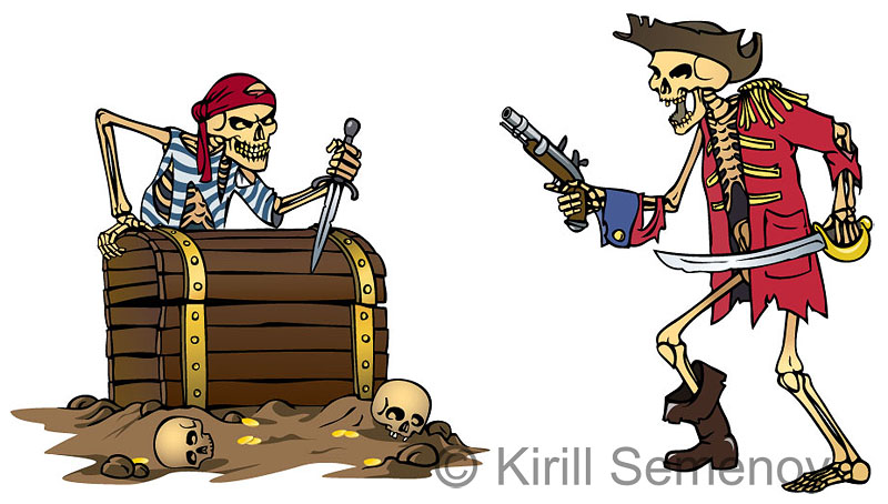 skeleton pirates by Skirill