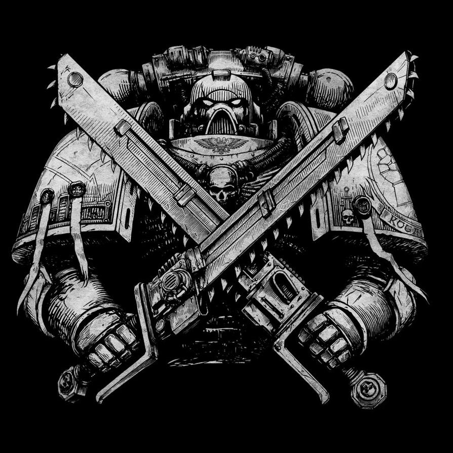 Spacemarine T-shirt black by Skirill