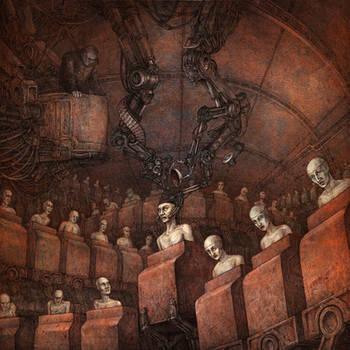 Cover art for HORROR GOD / TECHNE split CD by Skirill