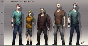 The Light in the Dark: Height Chart Characters by Annkh-Redox